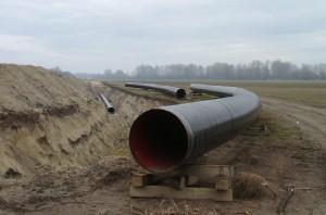 Gázvezeték építés (Fotó: Bozó Sándorné)